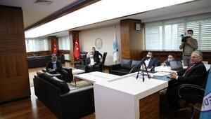 Kayseri Büyükşehir Belediyesi'nde online koordinasyon toplantısı