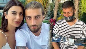 Ebru Şancı, futbolcu eşi Alpaslan Öztürkü sandalyeye bantladı
