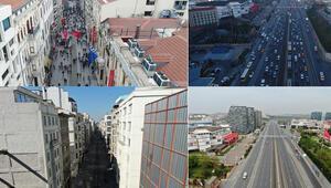 İstanbulun simge yerlerinde Corona Virüs değişimi