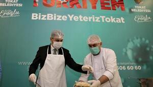 Tokat Belediyesi'nden günlük 600 kişiye iki öğün sıcak yemek