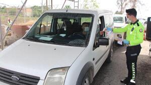 Silopide sürücülere Trafik Haftası bilgilendirilmesi