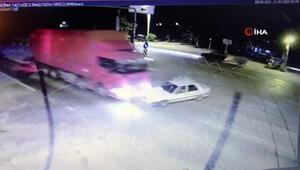 Muğla Seydikemerde iki kişinin öldüğü feci kaza kamerada