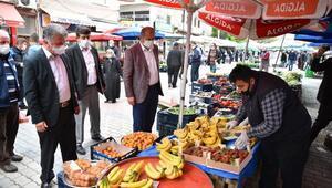 Karantinaya alınan mahallenin pazar alışverişi Bursa Büyükşehir Belediyesinden