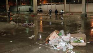 Salı pazarında temizlik operasyonu