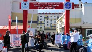 Eskişehirde karantina süreleri dolan 133 kişi, memleketlerine gönderildi
