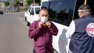 Kahramanmaraşta toplu taşıma araçlarına maske dağıtıldı