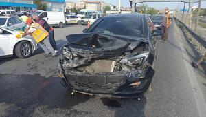 Silivride zincirleme trafik kazası, 1 yaralı var