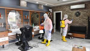 Salonlar dezenfekte edilmeye başlandı