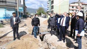 Başkan Zolan alt yapı ve doğalgaz çalışmalarını inceledi