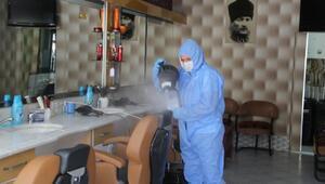 Niğdede berber ve kuaförler dezenfekte edildi