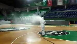 Ayhan Şahenk dezenfekte edildi Salona dönüş hazırlığı...