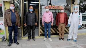 Edirnede berber ve kuaförlerin dezenfeksiyonuna başlandı
