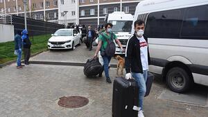 Kütahyada karantina süresi dolan 181 kişi, evlerine uğurlandı