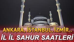 Sahur saat kaçta, sahur vakti ezan ne zaman okunacak Sahur saatleri ve Ramazan İmsakiyesi 2020: İstanbul, Ankara İzmir sahur saatleri