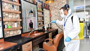 Salonlara dezenfekte