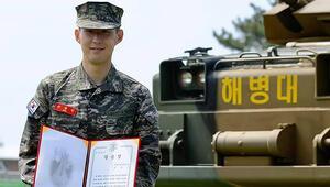 Heung-min Son tezkeresini aldı En iyi asker ödülü...