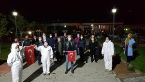 Nevşehirde karantinadakilere moral konseri