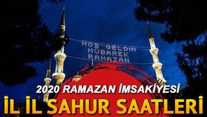 Sahur saat kaçta, ezan ne zaman okunacak İstanbul Ankara İzmir il il sahur vakitleri Ramazan İmsakiyesi 2020