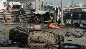 TEMde feci kaza İtfaiye ekipleri kurtardı...