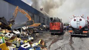 Mersinde narenciye paketleme fabrikasında yangın
