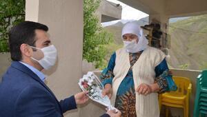 Beytüşşebap'ta şehit ailelerine Anneler Günü ziyareti