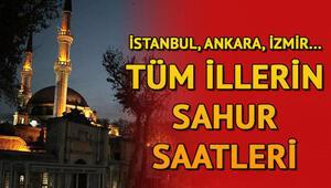 Sahur saatleri ve Ramazan İmsakiyesi: İstanbul, Ankara, İzmirde sahur vakti ne zaman, ezan saat kaçta okunacak