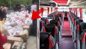 İstanbulda yolcu bulamayan otobüsler yük taşımaya başladı