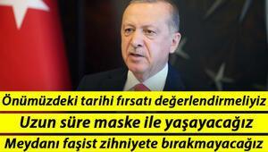Son dakika haberler... Cumhurbaşkanı Erdoğandan flaş sözler: Tarihi fırsat için sizlere çok önemli görevler düşüyor