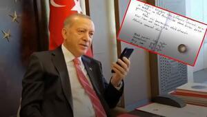 Cumhurbaşkanı Erdoğan, Milli Dayanışma Kampanyasına yüzüğünü bağışlayan vatandaşla görüştü
