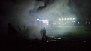 Kümeste yangın çıktı; 30 hayvan telef oldu