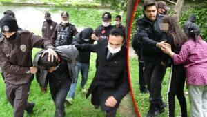 İstanbulda hareketli anlar Polisler kıskıvrak yakaladı