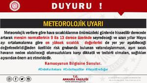 Ankara Valiliğinden sıcak hava uyarısı