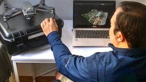 COVID-19 hastanelerinin yapımına drone desteği