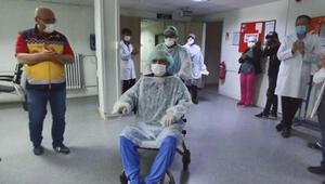 39 gün koronavirüs tedavisi gördü, alkışlarla taburcu edildi