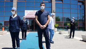 Diyarbakırda koronavirüsü yenen 22 sağlıkçı yeniden görevde
