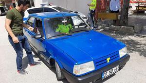 Abart egzozlu otomobilin ehliyetsiz sürücüsüne 6 bin lira ceza