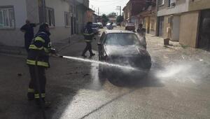 Seyir halinde otomobilde yangın çıktı
