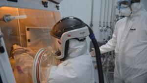 Yerli koronavirüs ilacının üretildiği fabrikayı DHA görüntüledi