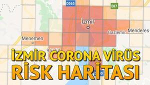 İzmir corona virüs (koronavirüs) haritası.. İlçe ilçe İzmir Covid-19 risk haritası