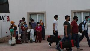 KKTCden getirilen 173 tarım işçisi, Adıyamanda karantinaya alındı