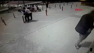Beylikdüzünde bankadan çıkan adama gasp dehşeti kamerada