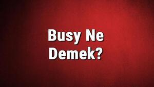 Busy Ne Demek Busy Kelimesinin Türkçe Anlamı Nedir