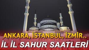 Sahur vakitleri Ramazan İmsakiyesi 2020: İstanbul Ankara İzmir sahur saat kaçta, ezan ne zaman okunacak