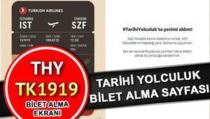 THY tarihi uçuş Samsun 19 Mayıs hatıra bileti için son gün THY tarihi yolcululuk.com bilet al