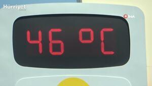 Termometrelerin 46 dereceyi gösterdiği Adanada son 91 yılın en sıcak günü yaşanıyor