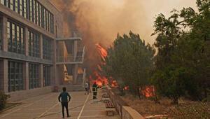 KKTC'de korkutan yangın ODTÜ kampüsüne de sıçradı…