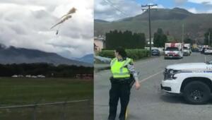 Kanada Hava Kuvvetleri'ne ait gösteri uçağı düştü