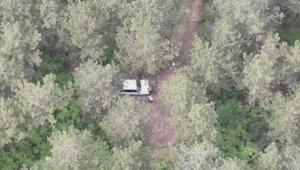 Sultanbeylide ormanda piknik yapan 2 kişi drone ile tespit edildi