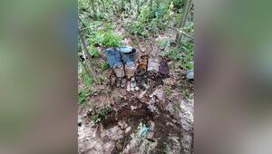 Bitliste terör örgütü PKKya ait malzemeler imha edildi