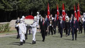 Bakan Kasapoğlu ve beraberindeki hayat Anıtkabiri ziyaret etti